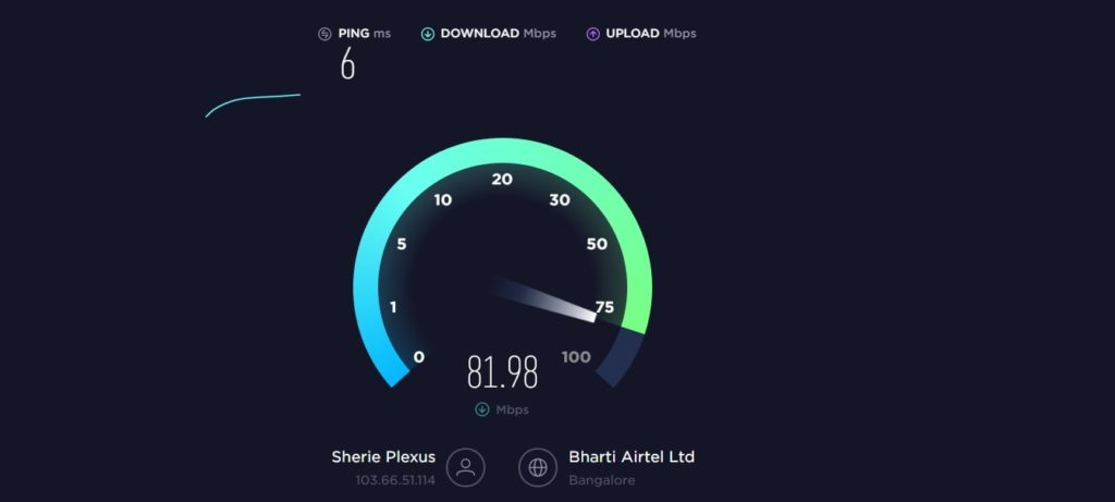 max speed internet speed test