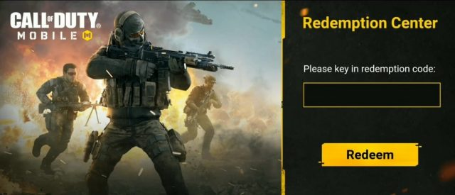 free redeem codes call of duty mobile