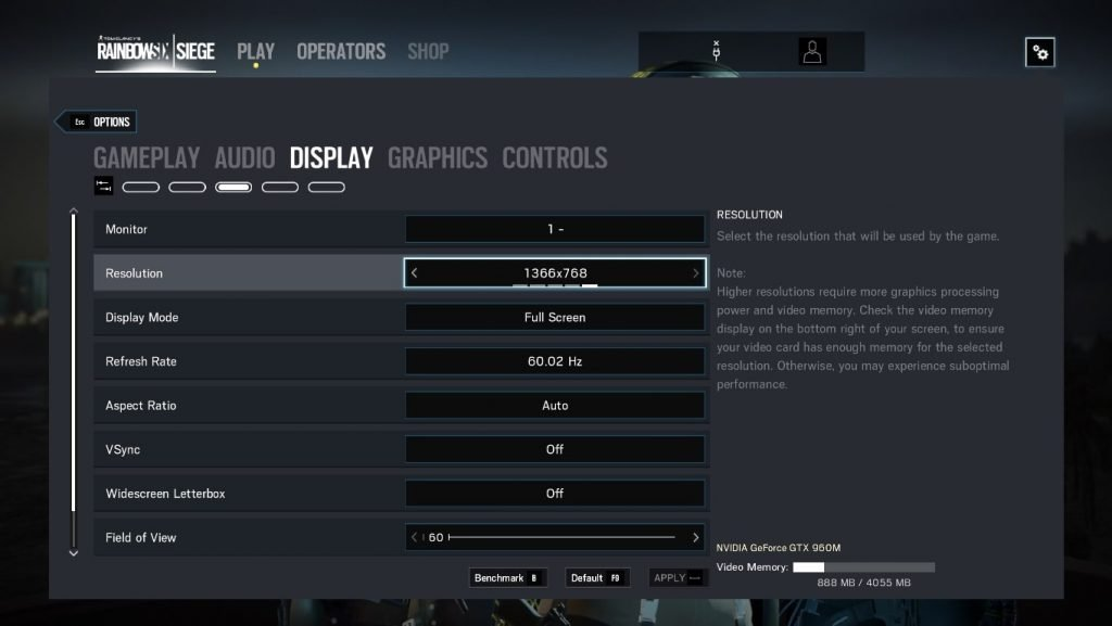 Rainbow Six siege fps settings