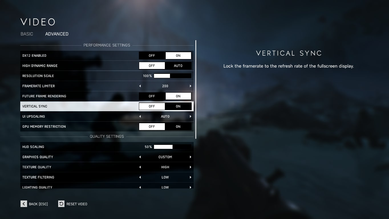 battlefield 5 graphics settings for max fps