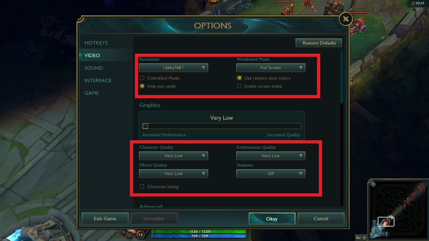 graphics settings league of legends