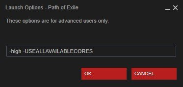 steam launch options path of exile