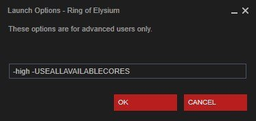 steam launch options ring of Elysium