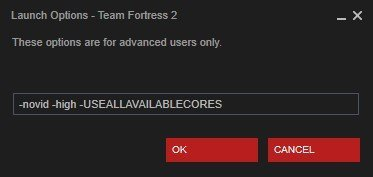 steam launch options team fortress 2
