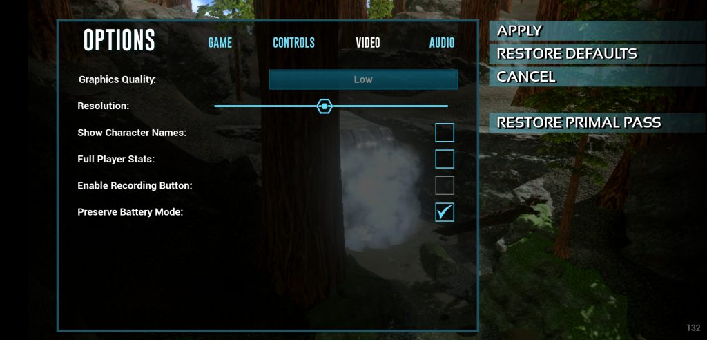 ark survival evolved mobile graphics settings