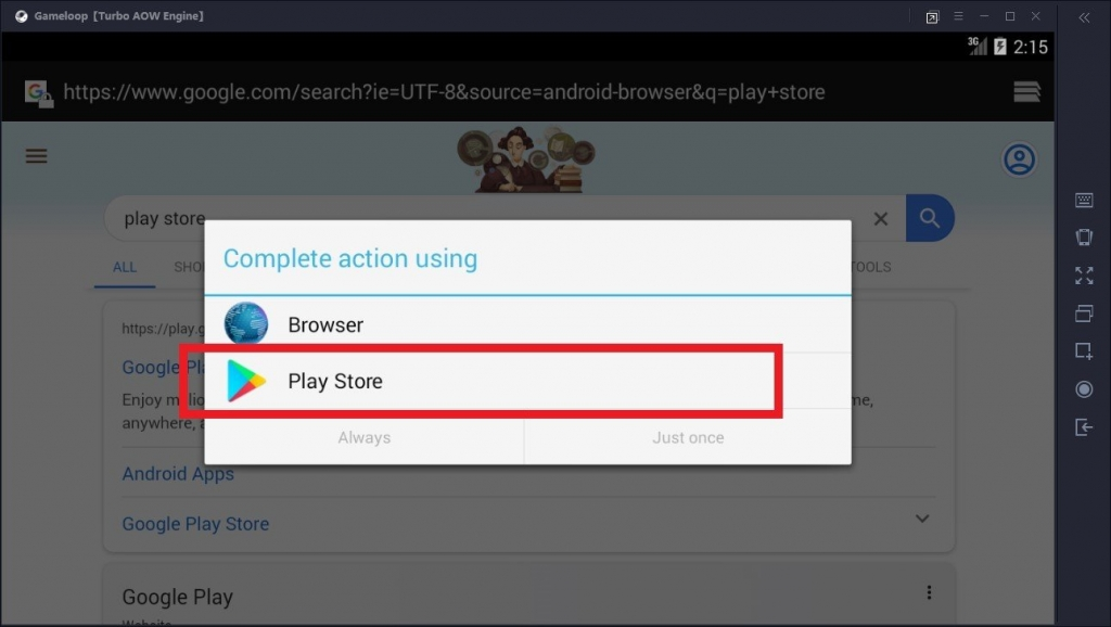install google play store on gameloop