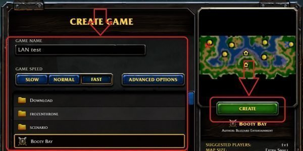 lan games in warcraft 3 reforged