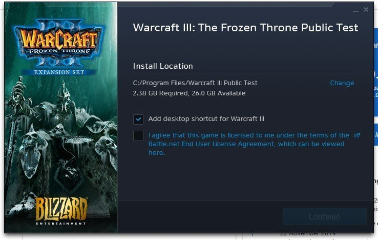 download and install warcraft 3 public test realm