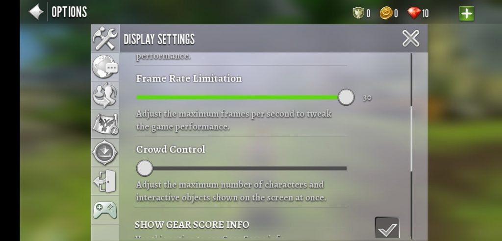 order and chaos graphics settings