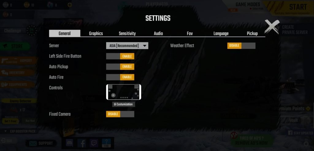 scarfall settings to fix lag