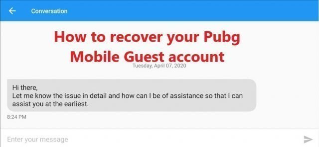 recover pubg guest account