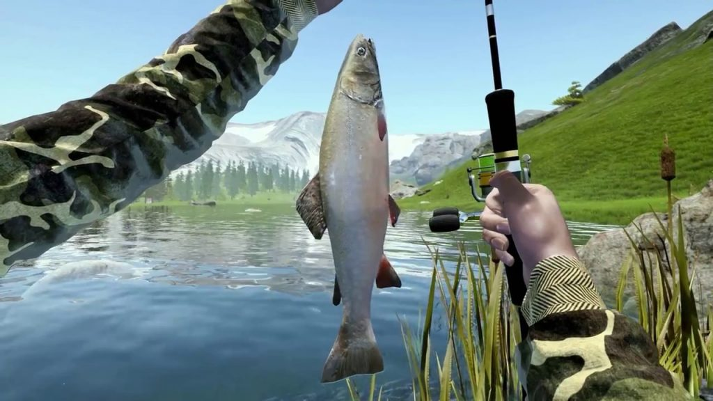 Fishing simulation game
