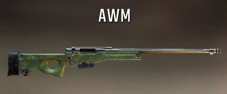 The best sniper gun in pubg AWM