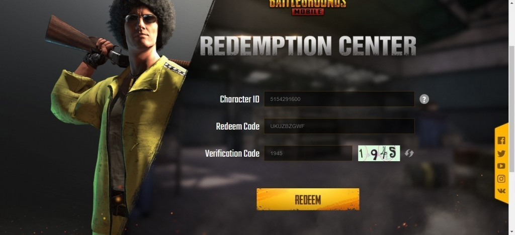 how to use redeem codes in pubg mobile