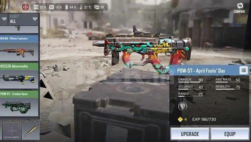 PDW 57 best submachine call of duty mobile