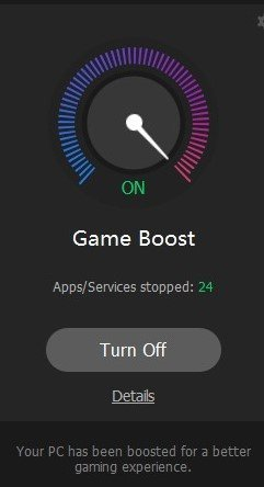 game boost on