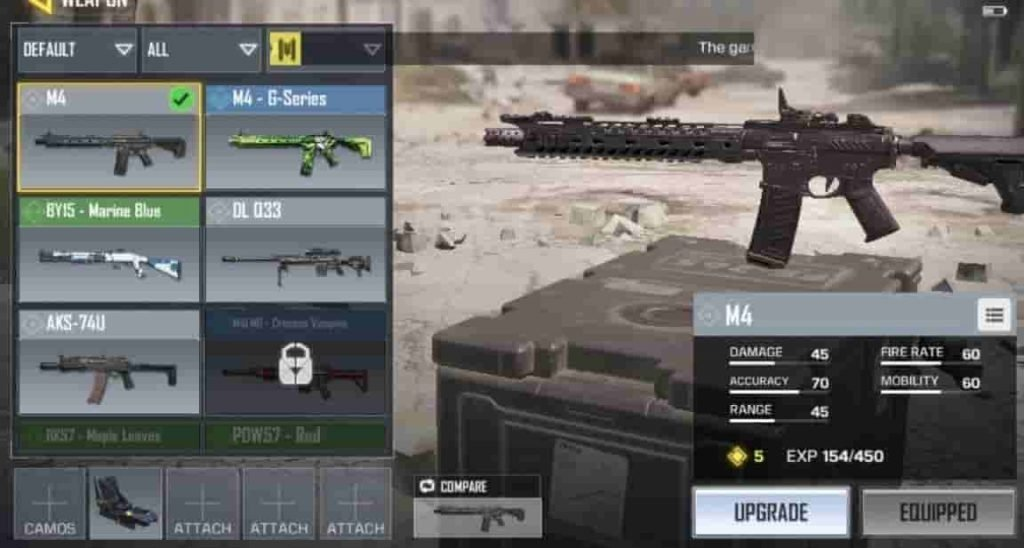 M4 best assault rifle call of duty mobile