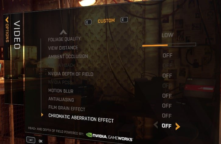 graphics settings for dying light