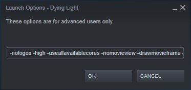 steam launch options dying light