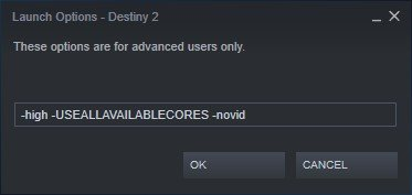 destiny 2 steam launch options