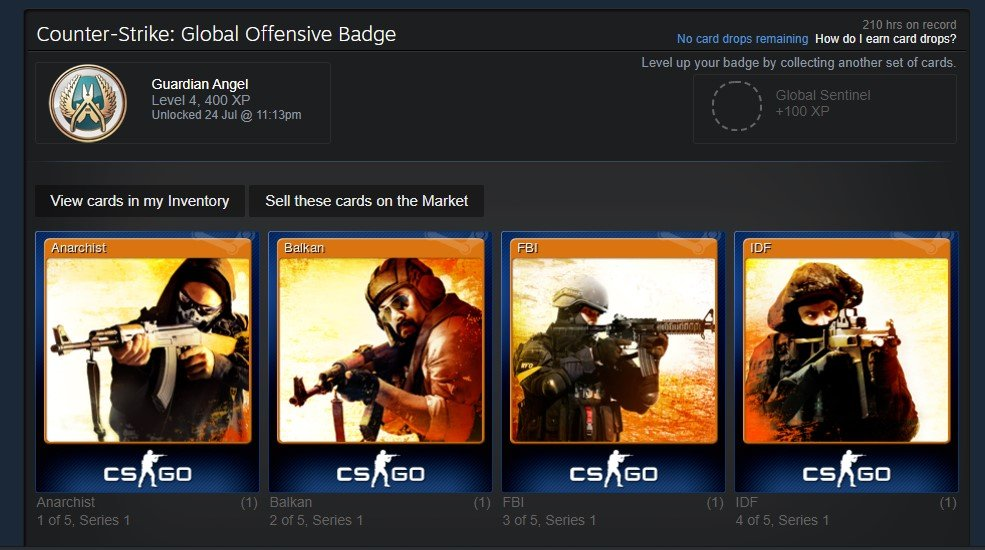 increase steam account level by crafting badges