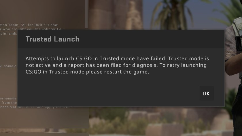 trusted mode increases cs go trust factor