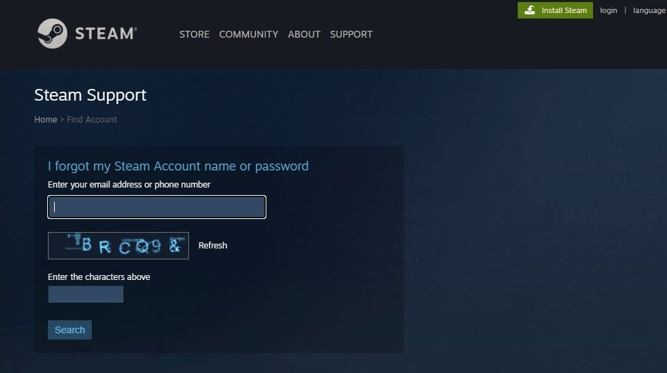 recover your steam account