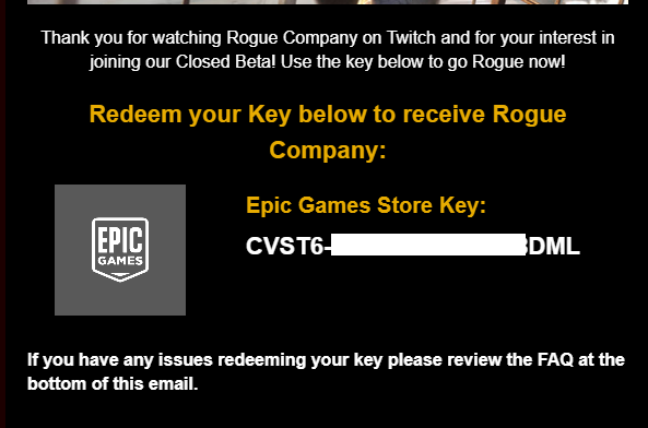 rogue company game key