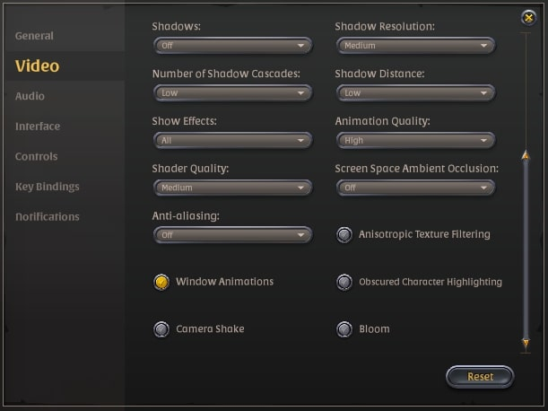 Albion online graphics settings