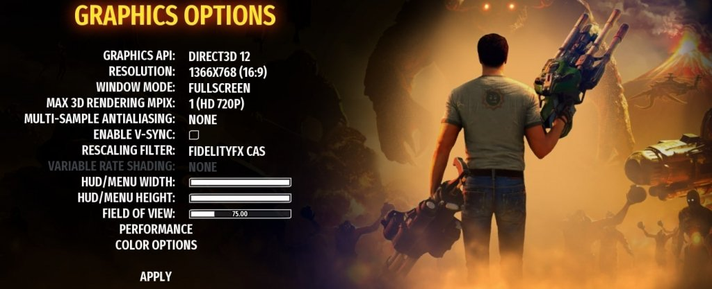 serious sam 4 graphics settings to fix lag and increase FPS