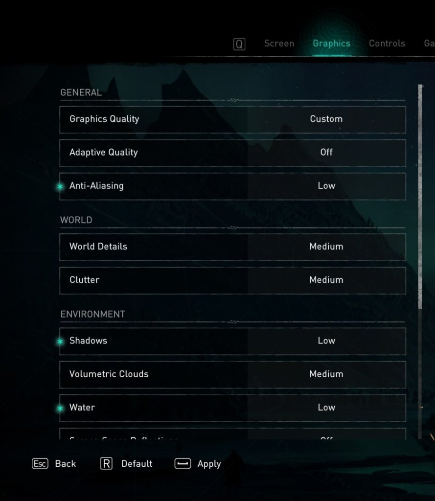 assassin creed Valhalla graphics settings to fix lag and stuttering