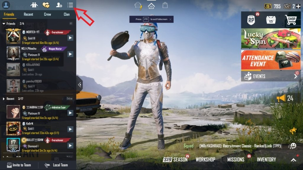 how to remove friends in battlegrounds mobile india bgmi